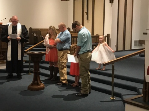 Brookelyn Grabert baptism April 30 2017