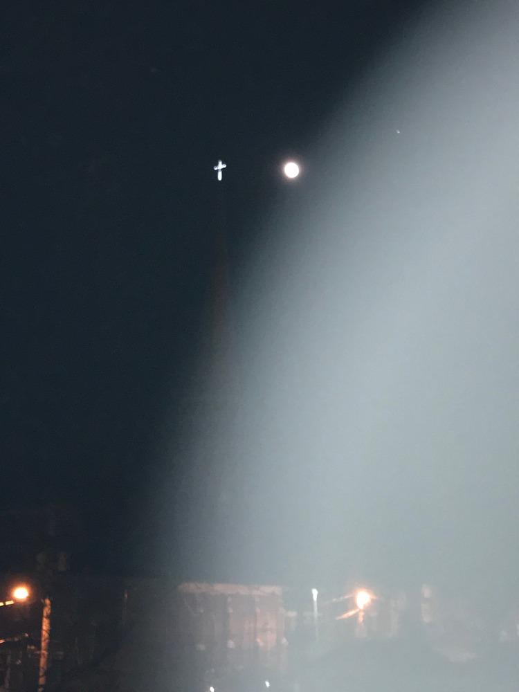 church cross with moon 2018