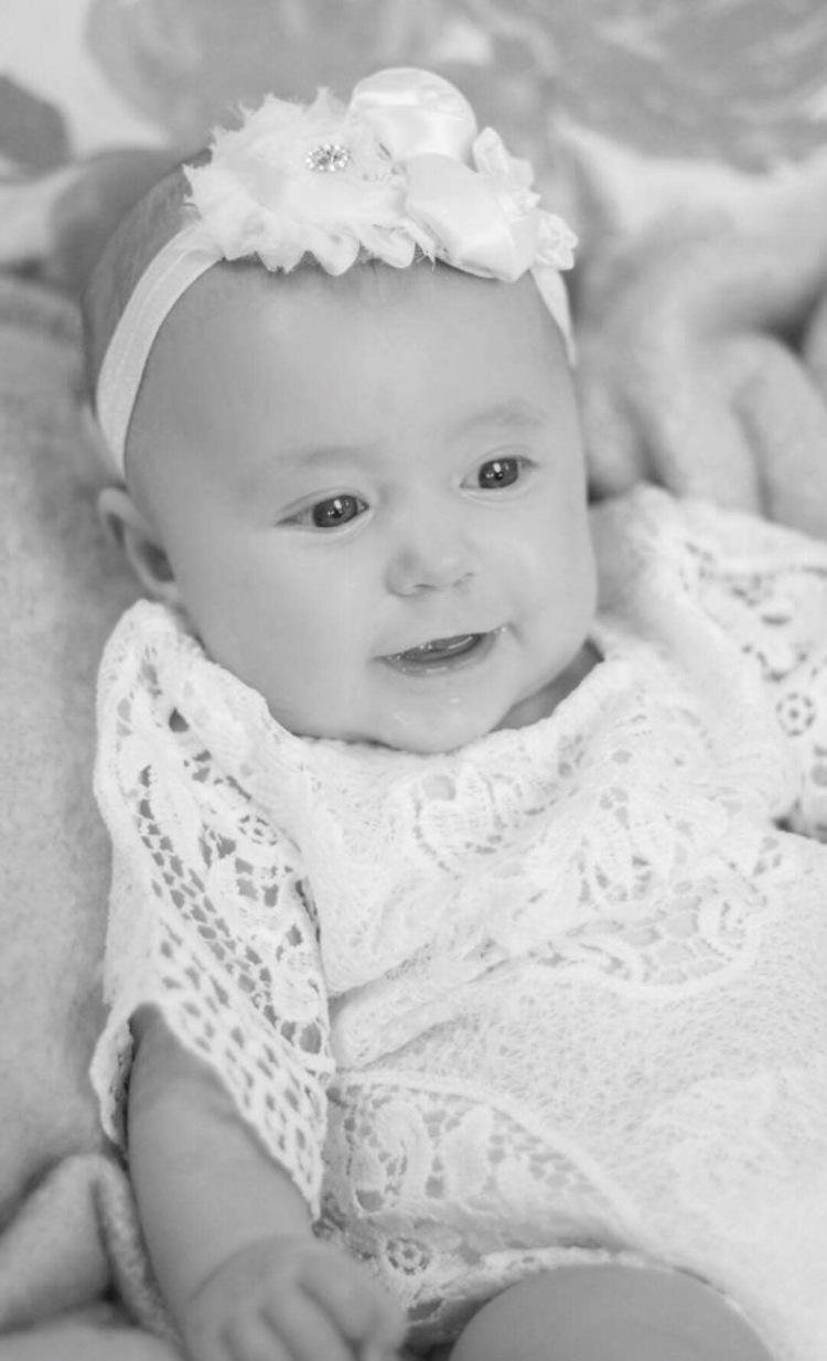 Braelyn's baptism dress